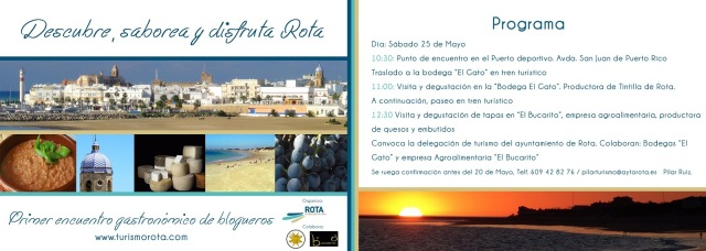 Convocatoria I Encuentro Gastronómico de Blogueros en Rota - 25 de Mayo 2013