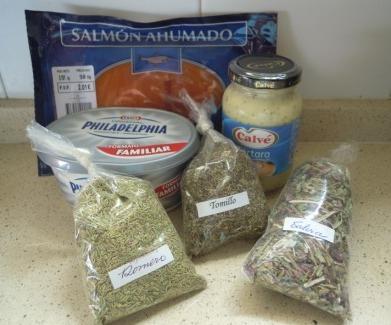 Paté de salmón y queso cremoso (1/4)