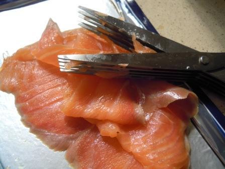 Paté de salmón y queso cremoso (2/4)