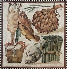 Mosaico pez Roma